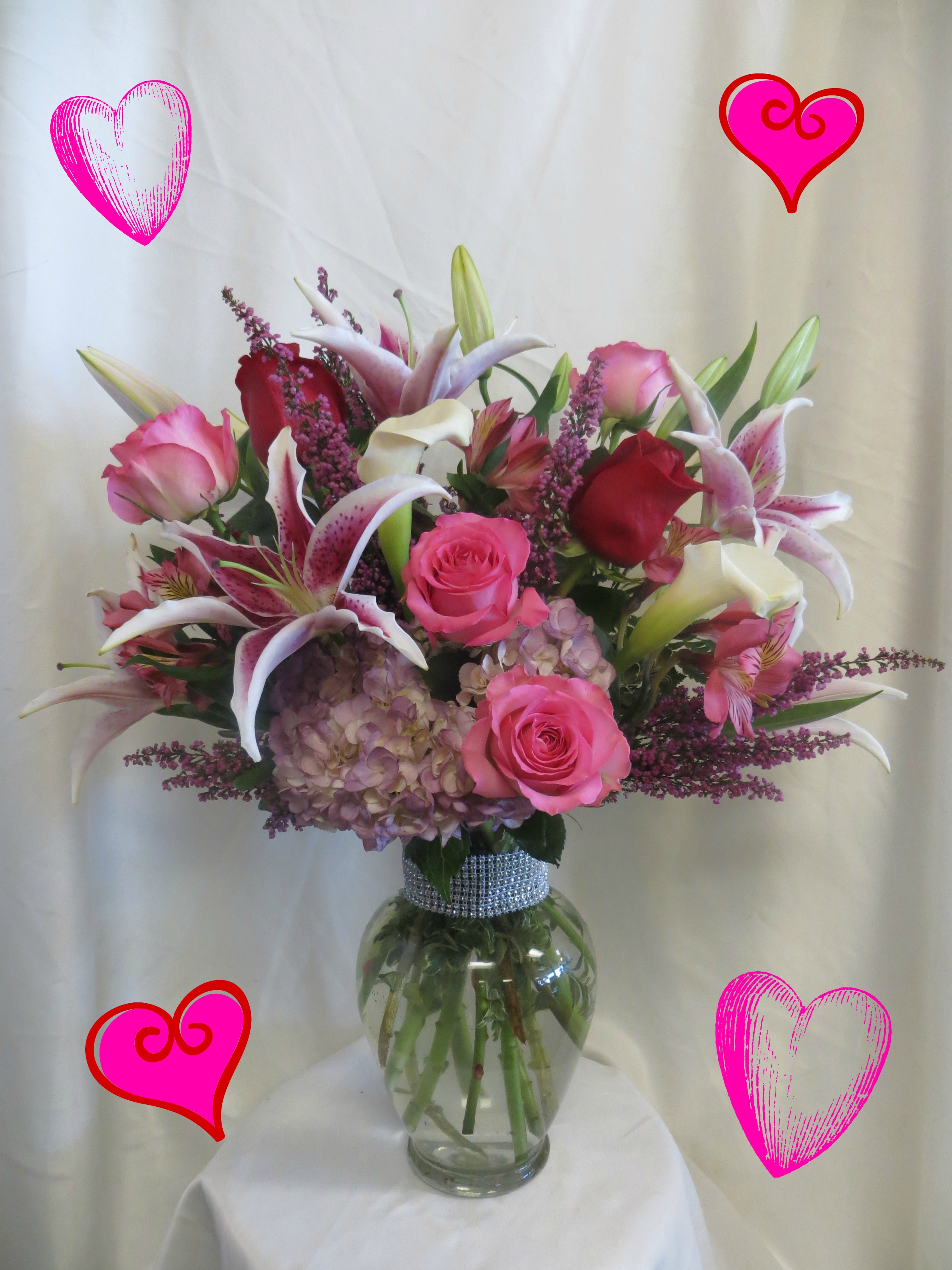 valentines day flowers in Pasadena TX